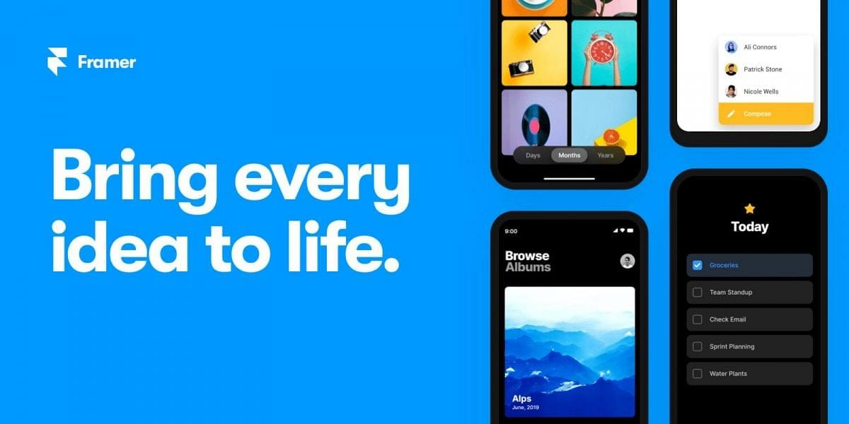 Framer Web now available